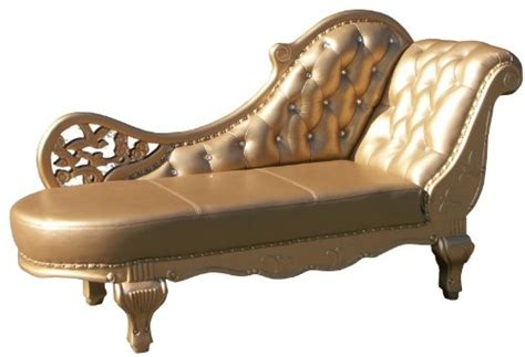 lenkap antiek barock chaiselongue antik gold echt leder chaise lonque