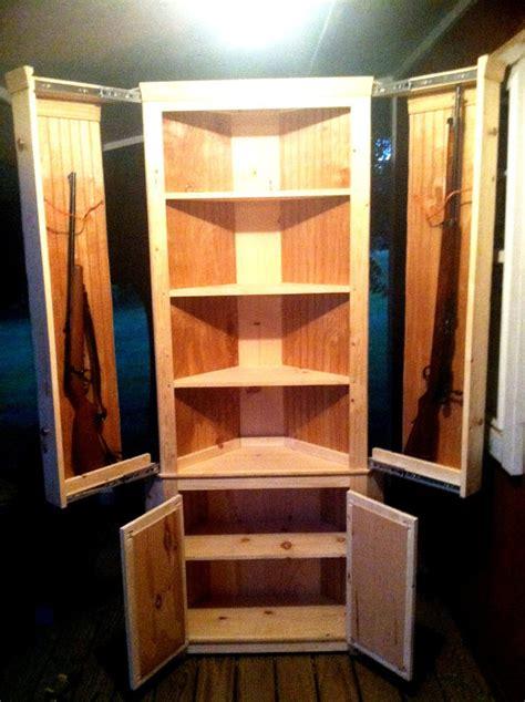 hidden gun cabinet bookcase gun concmealment corner cabinet stashvault
