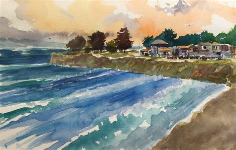 watercolor tutorial seascape painting water 101 key techniques for seas oceans