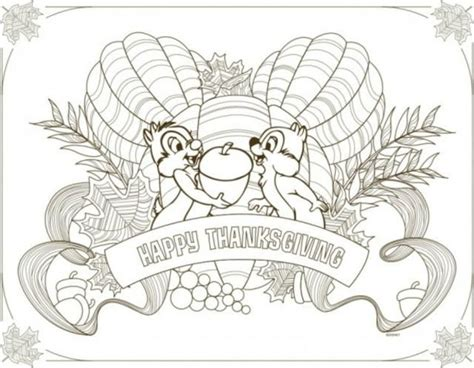 thanksgiving coloring page placemat disney thanksgiving printables to download and color