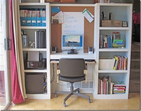 Diy Bookshelf Desk Built In Bookshelf Computer Desk Crafty Office Space Ideas And