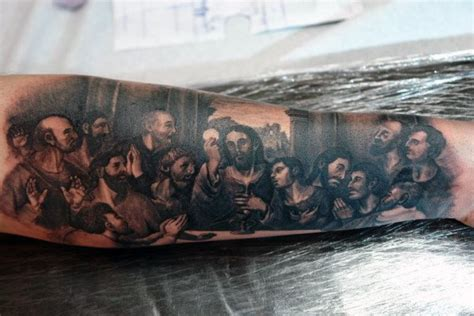 last supper tattoo design 40 last supper designs for christian ink ideas