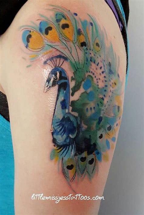 watercolor tattoo peacock watercolor peacock