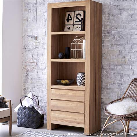 Lemari Kayu Ruang Tamu lemari hias ruang tamu mini kayu jati jayafurni mebel