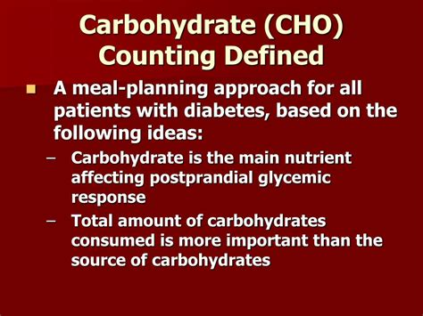 carbohydrates counting ppt carbohydrate counting for patients with diabetes