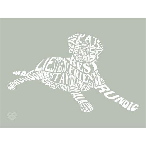 printable typography art typographic dog word art print by mimi mae