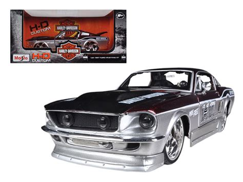 Maisto 1967 Ford Mustang Gt Harley Davidson Diecast diecast model cars wholesale toys dropshipper drop