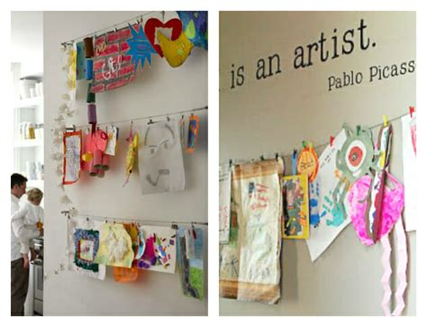 art display ideas 21 ways to display kids artwork honor your children s