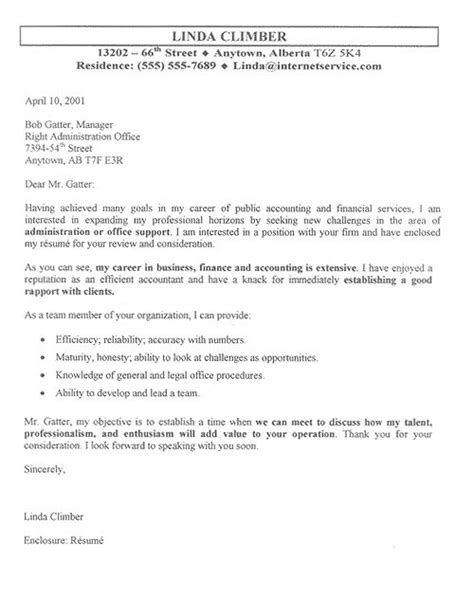 Cover Letter Finance Department Accountant Cover Letter Exle Finance Click And Exles
