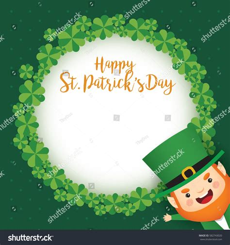 St Card Template by Happy St Patricks Day Greeting Card Stock Vector 582743020