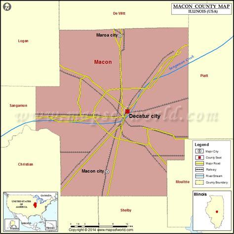 Macon County Search Il Macon County Map Illinois