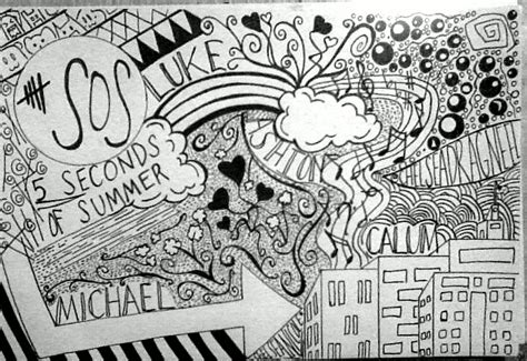 5 Second Sketches by Fan 5 Seconds Of Summer M 233 Xico