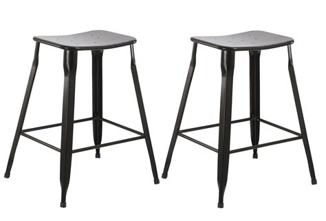 24 Inch Black Backless Bar Stools by Btexpert 24 Inch Industrial Metal Vintage Stackable Black