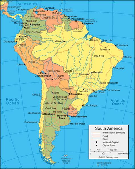south america map river south america galapagos islands river maps