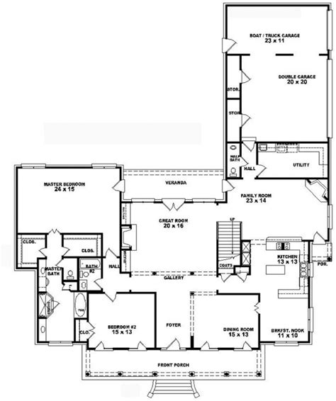 southern style home floor plans 653741 1 5 story 4 bedroom 3 5 bath southern country