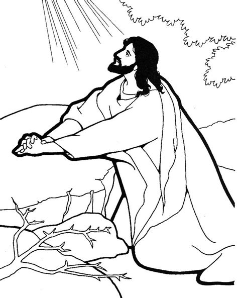 coloring pages jesus praying in the garden jesus praying coloring page search catechist