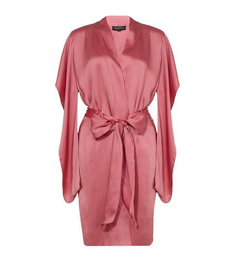 silk robes packham silk robe in pink lyst