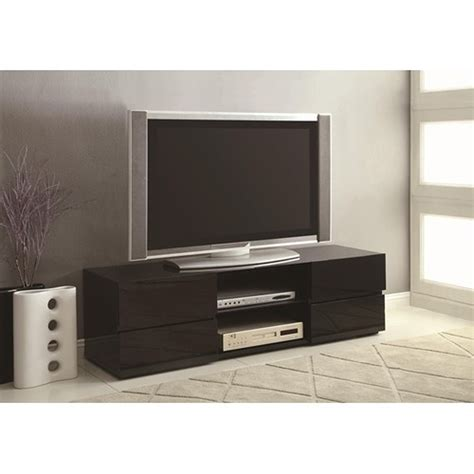 wooden tv stands coaster 700841 black wood tv stand a sofa