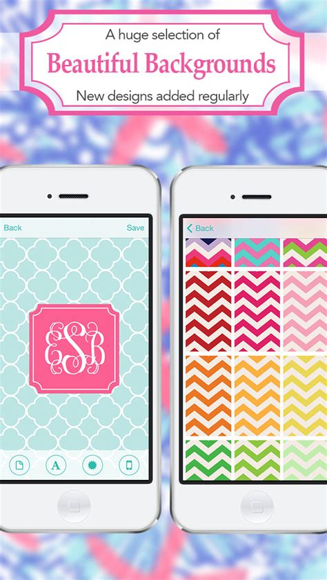 themes diy apps monogram lite wallpaper backgrounds maker hd with