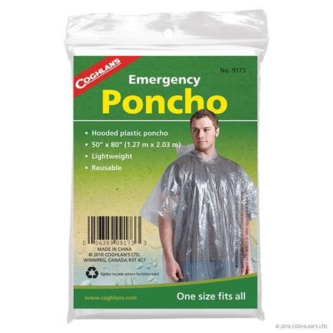Plastic Kitchen Knives emergency poncho clear plastic rain poncho coghlan s