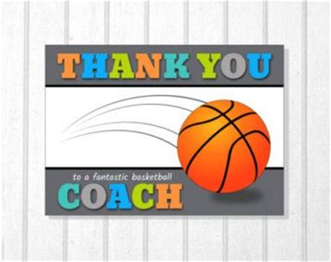 printable thank you cards basketball printable team thank you card for soccer coach instant