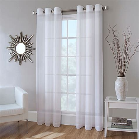 72 inch sheer curtain panels buy crushed voile 72 inch grommet top sheer window curtain