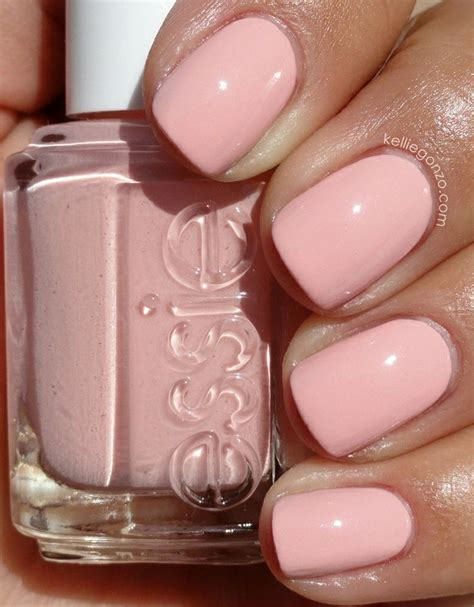 light pink nail polish essie like to be bad pastel pale pink nails nails