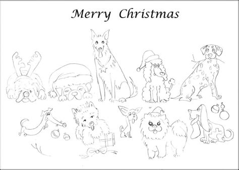 coloring pages holiday cards free coloring pages name dogs merry christmas