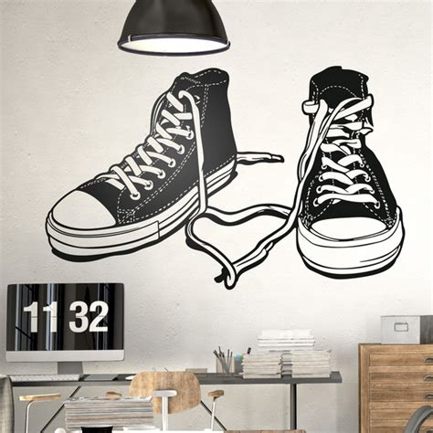 wall stickers sports sports boots