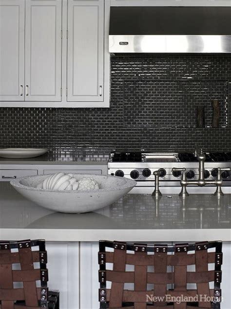 sacks glass tile backsplash gray kitchen countertops design decor photos pictures