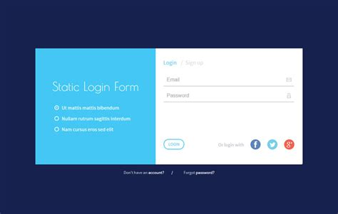html5 form layout design static login form responsive widget template by w3layouts