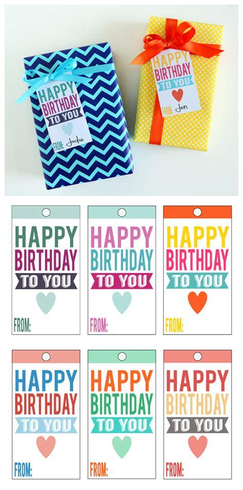 printable gift tags for birthday printable happy birthday tags eighteen25 bloglovin