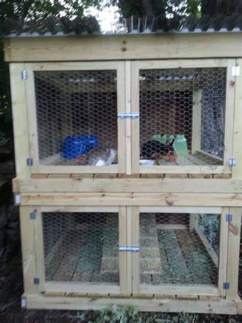 diy  story rabbit hutch plans woodworking projects