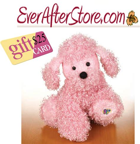 Webkinz Gift Card - giveaway 5 winners 25 everafterstore com gift card pink poodle webkinz
