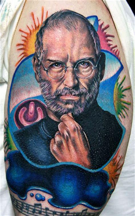 tattoo design jobs online steve jobs portrait tattoo by cecil porter design of