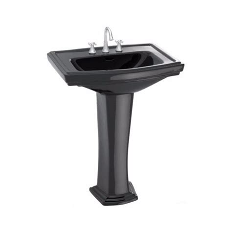 toto bathroom sink faucets toto clayton 27 in pedestal combo bathroom sink with 8 in