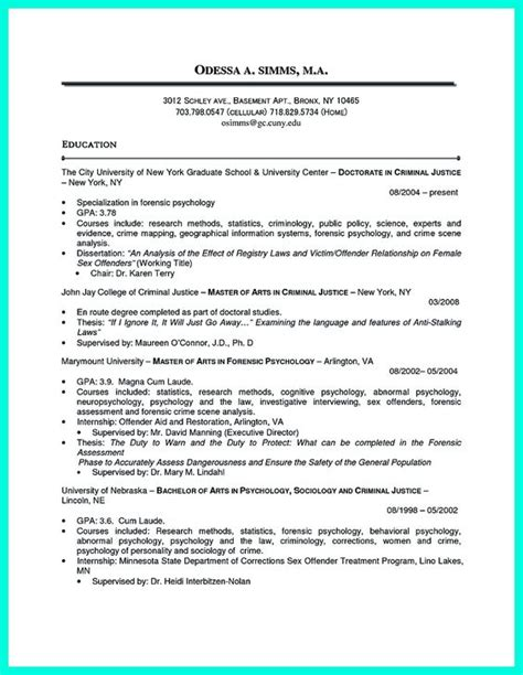 Resume Highlights criminal justice resume uses summary section of the