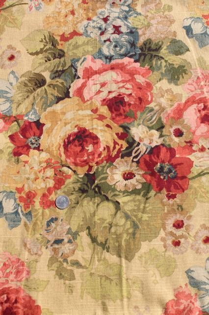 106 Curtain Panels Vintage Roses Print Curtains Amp Fabric Lot Waverly Norfolk