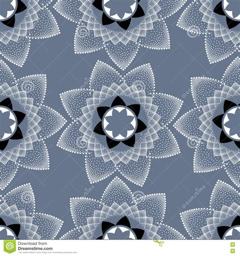 vector seamless pattern abstract background with round vector seamless pattern with white dotted round mandala on