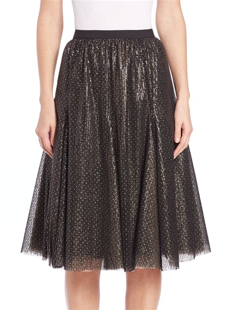 phoebe beaded sequin skirt in black lyst
