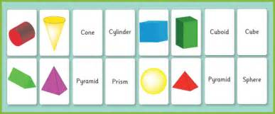 3d shape flash cards free early years amp primary teaching