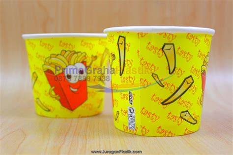 Cup Kentang Ukuran 8oz bowl kentang goreng mini tasty quot 240 ml 8 oz quot tanpa