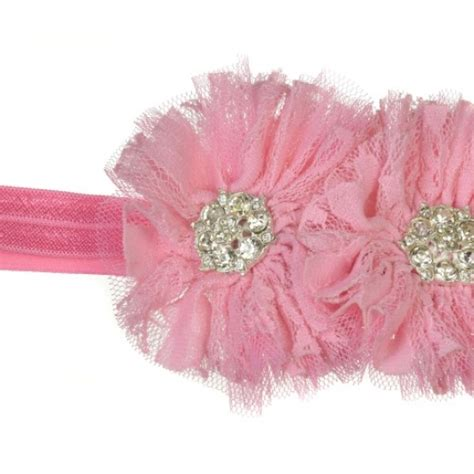 Pink Flower Baby Headband toeblooms pretty in pink light pink flower vintage baby