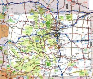 colorado county road map colorado highway
