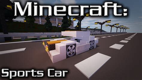 minecraft sports car minecraft sports car tutorial designed by tjc05