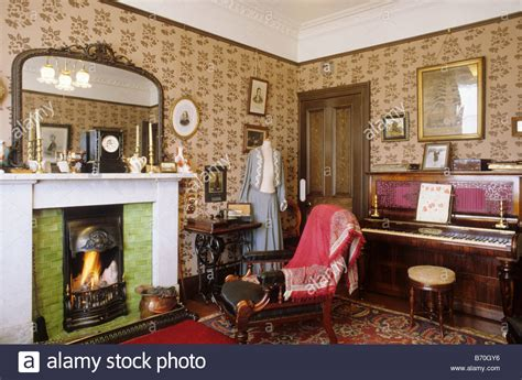 the livingroom glasgow glasgow the tenement house period sitting room scotland uk interior stock photo royalty free