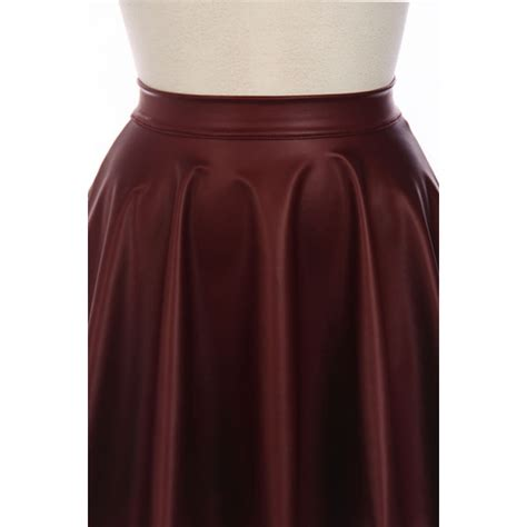 maroon faux leather skirt redskirtz