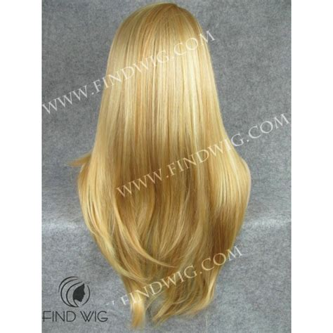 blonde highlighted wigs straight highlighted blonde long wig wigs online