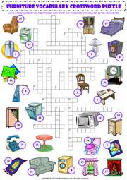 Small Home Appliances Crossword Furniture Esl Printable Worksheets And Exercises
