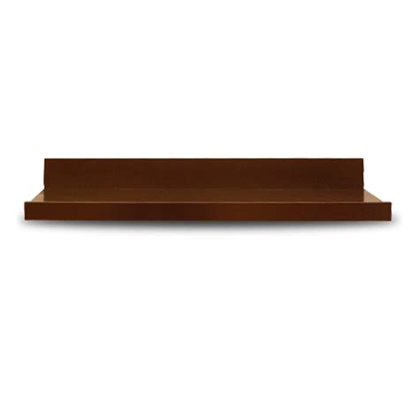 lowes wood shelving shop allen roth 42 in wood wall mounted shelving at